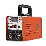 HITBOX Mini Soldador Inverter ARC 220V, Soldador Inversor de Arco Digital Portátil IGBT MMA-200, soldador electrodo ARC200, Ciclo de Trabajo 60%, Arranque por Calor