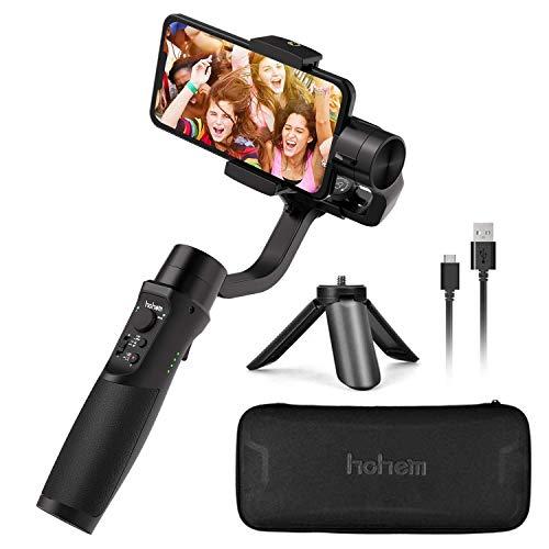 Hohem iSteady Mobile + Smartphone Gimbal Handy Stabilisator 3-Achsen Handheld Stabilizer bis zu 280g für iPhone 11/Pro/X/Max Android Smartphons【Eingebaute mehrsprachige Version des Produkthandbuchs】