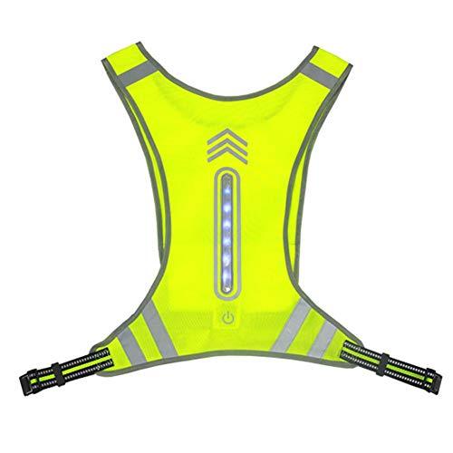 Funnyfeng reflecterend vest met USB-lading, reflecterend, draadloos, led voor hardlopen, sport 's nachts