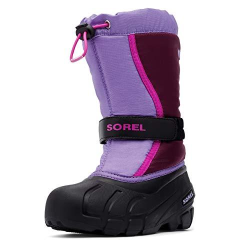 Sorel - Youth Flurry Winter Snow Boots for Kids, Purple Dahlia, Paisley Purple, 12 M US