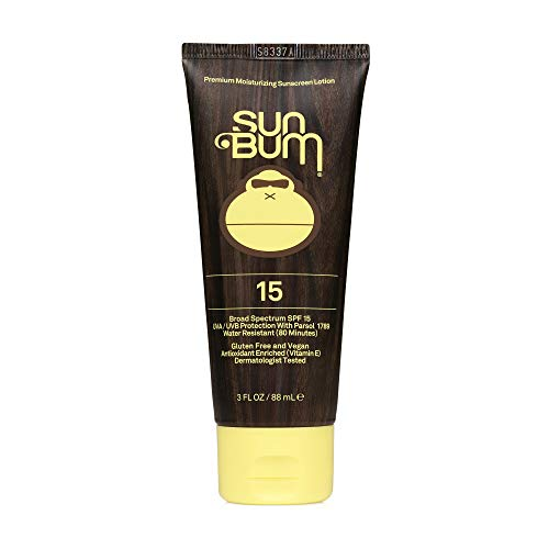 Sun Bum Original SPF 15 Sunscreen Lotion | Vegan and Reef Friendly (Octinoxate & Oxybenzone Free) Broad Spectrum Moisturizing UVA/UVB Sunscreen with Vitamin E | 3 oz