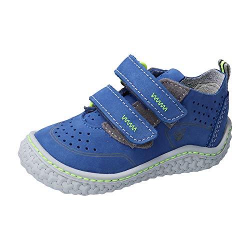 RICOSTA Kinder Kletthalbschuhe CHAPP von Pepino, Weite: Mittel (WMS),Barfuß-Schuh, lauflernschuh Klettverschluss flexibel,Azur,22 EU / 5.5 Child UK