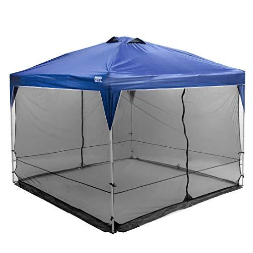 タープテント専用蚊帳 3m ガードメッシュ フルクローズ 簡単組立 収納ケース付き UVシェルター サイドテント 44400031 00 (65036)