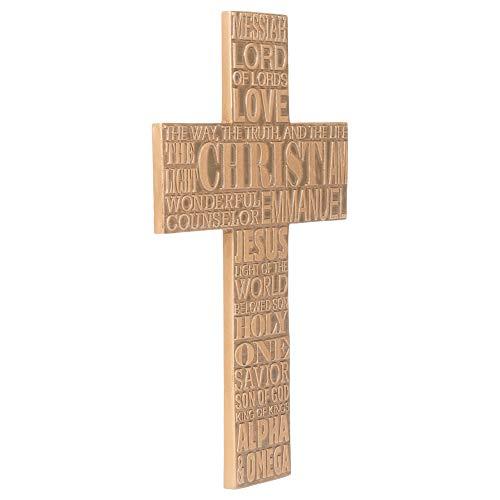Dicksons Names of Jesus Christ 11 inch Bronze Resin Stone Wall Cross