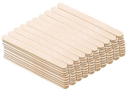 Rosenstein & Söhne Eisstiele: 100er-Pack Holzstiele für selbstgemachtes Eis am Stiel (Holzstäbchen)