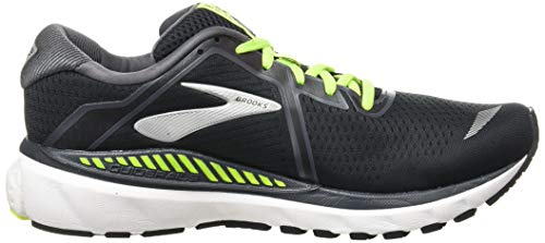 Brooks Mens Adrenaline GTS 20 Running Shoe - Black/Nightlife/White - D - 11