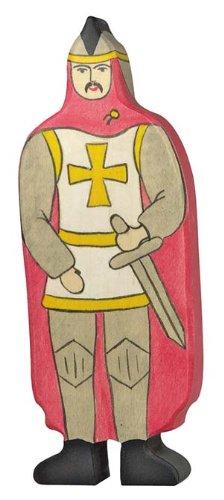 Holztiger - 2041132 - Figurine Chevalier Avec Manteau - Rouge