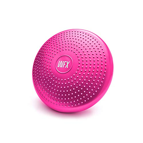#DoYourFitness x World Fitness Ballsitzkissen »Blowup« Ø 33 cm inkl. Pumpe - bis 140 kg - Sitzballkissen, Luftkissen, Balance Board für Fitness Reha Koordinations- und Rückentraining - Pink