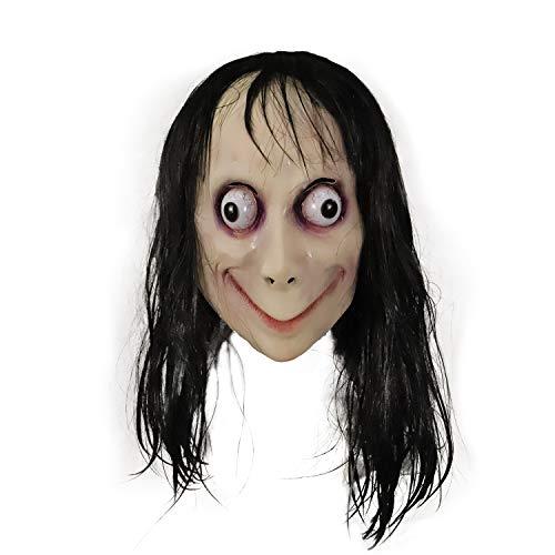 molezu Momo LED Máscaras de látex, Halloween y Navidad Terror máscaras látex Decorativas.