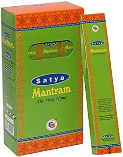 Satya Mantram お香スティック Agarbatti 180グラムボックス   箱入り12パック   輸出品質