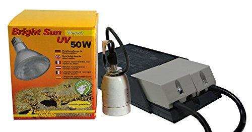 Lucky Reptile - Bright Sun UV Desert, 50 W, Komplettset, Metalldampflampe inklusive passende Fassung und Vorschaltgerät