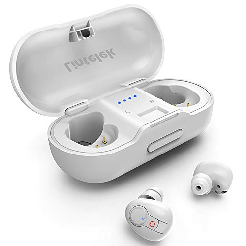 Lintelek Bluetooth Earbuds, Bluetooth Headsets, Wireless Earbuds with Deep Bass Stereo Earphones, Instant Pairing Headsets with Built-in Mic, 20H Music Time with Portable Charging Case