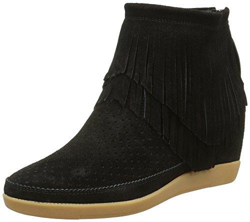 Shoe the Bear Emmy Fringes, Sneakers Hautes Femme, Noir (Black), 39 EU