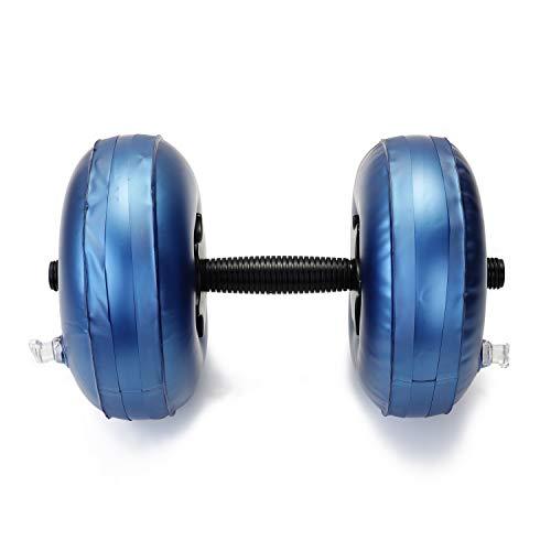 PPuujia Equipo de fitness con mancuernas llenas de agua y pesas pesadas, juego de mancuernas ajustables para entrenamiento, ejercicio físico, gimnasio y culturismo en casa (color 16 20 kg)