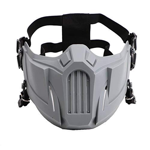 JHua Airsoft-Maske, Halbgesichtsmaske, Spielmaske f¨¹r CS-Kriegsspiele, BB-Waffen, Jagd, Paintball