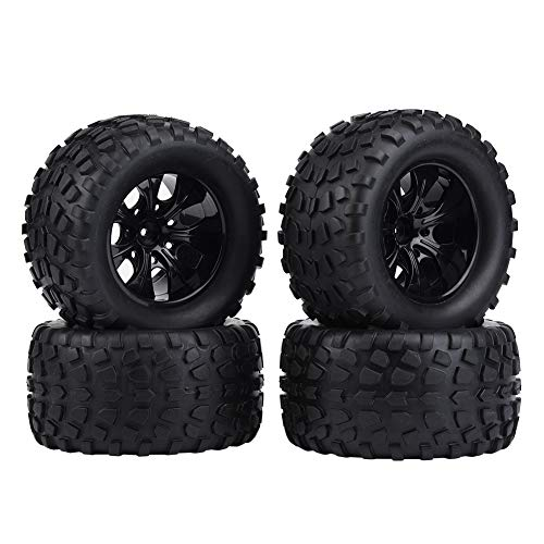 Drfeify Pneumatico RC, 4 pz/Set 1:10 Pneumatico Ruota RC Pneumatici in Gomma Compatibile con hsp redcat Exceed Truck off-Road Car(7 Fori)