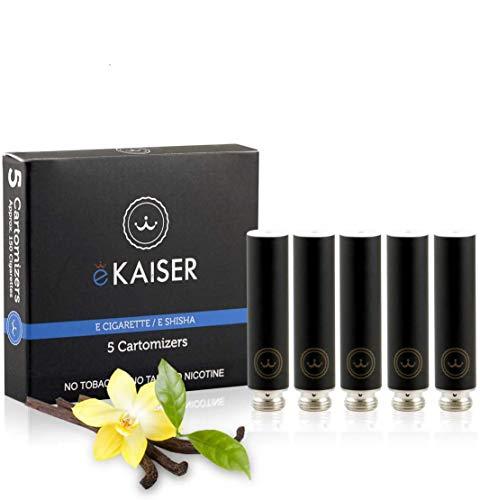 E-Zigarette, E-Liquid 5er Pack Schwarz Cartomizer, Vanille-Geschmack, E-Shisha, für eKaiser Wiederaufladbar E-Shisha Zigarette