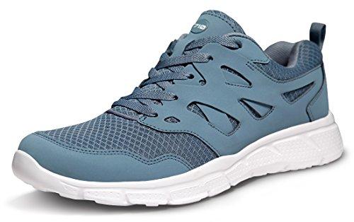 TSLA Men's Lightweight Sports Running Shoes, Groove Mesh(x710) - Navy, 7