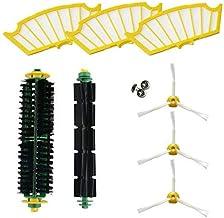 vhbw Cepillo de repuesto Cepillos laterales Set para iRobot Roomba 416.
