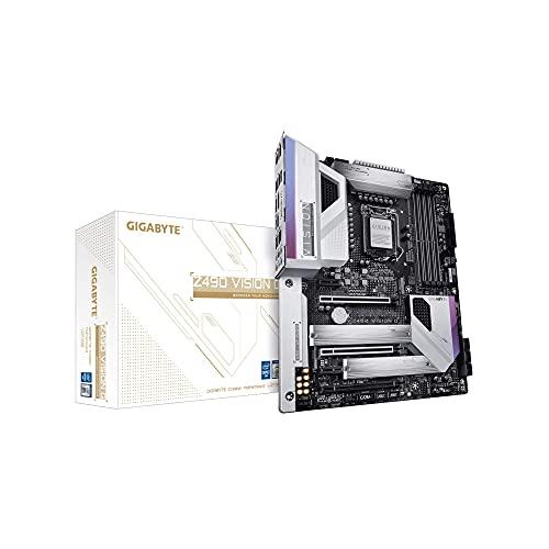 GIGABYTE Z490 Vision G (Intel LGA1200/Z490/ATX/2xM.2/Realtek ALC1220-VB/Intel LAN/SATA 6Gb/s/USB 3.2 Gen 2/SLI Support/HDMI/Motherboard) (Renewed)