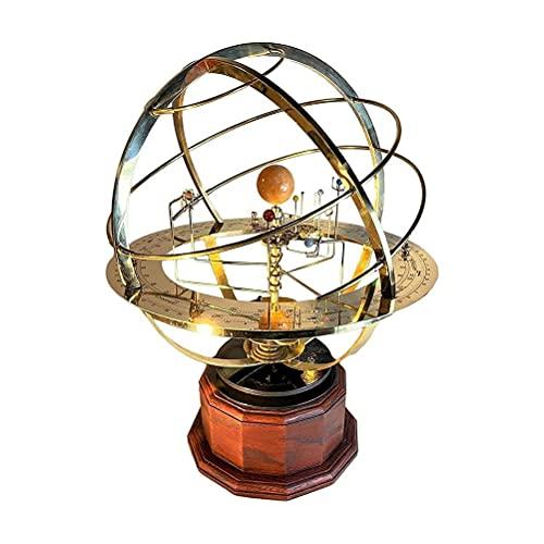 BUNRUN Grand Orrery modelo do sistema solar, ornamento doméstico retrô, modelo estático de órbita planeta para decoração de quarto, sala de estar e presente 1 peça