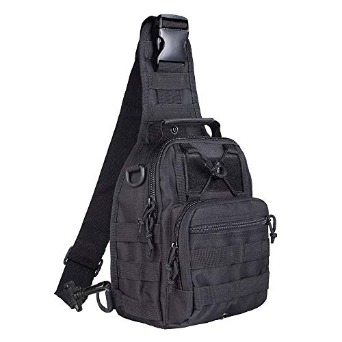 BeGrit Military Sling Bag Tactical shoulder Molle Chest Backpack EDC Bag One Strap for Outdoor Sport Camp Hiking Cycling