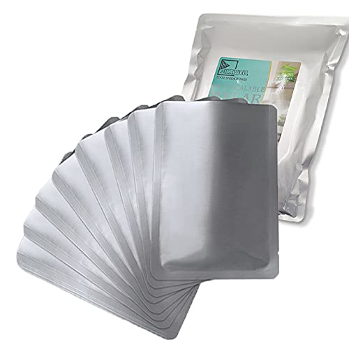 50 PCS 1 Gallon Mylar bags for food storage, Heat Sealable Bags Storage Bags for Food, Coffee Beans,...