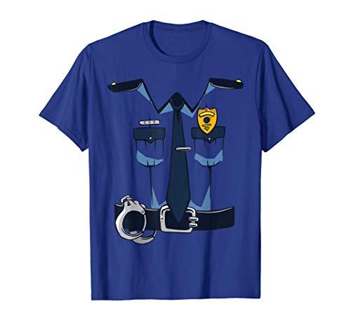 Oficial de polica Disfraz de polica Carnaval Halloween Camiseta