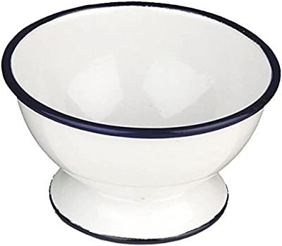 IBILI 903812 Bol avec Pied, Porcelaine, Blanc/Bleu, 14 x 14 x 8 cm