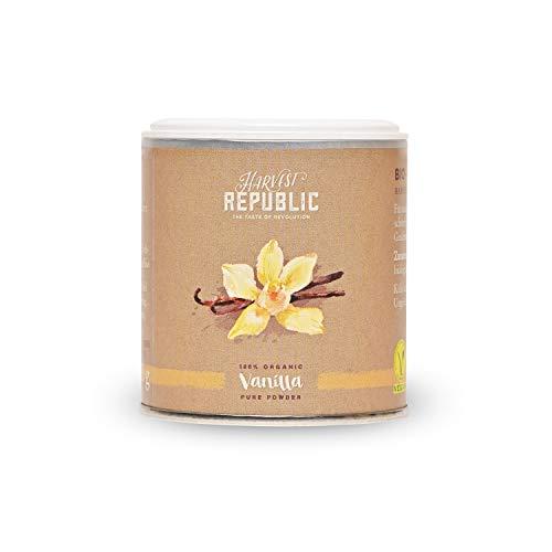 HARVEST REPUBLIC Poudre de vanille bio 25 g pour smoothies et shakes Superfood végétalien