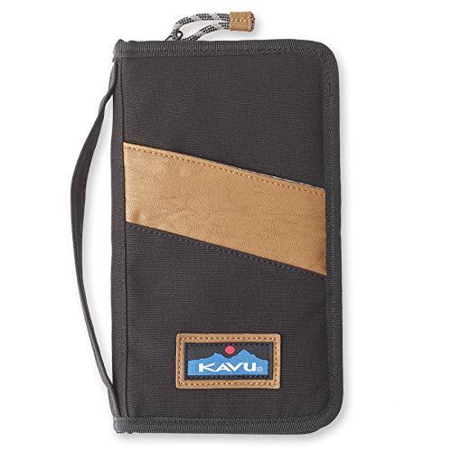 KAVU Storage Unit Clutch Zip Wallet Travel Organizer - Black