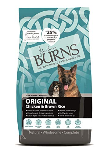 Burns Pet Nutrition Hypoallergenic Complete Dry Dog Food Adult and Senior Dog Original Chicken and Brown Rice 2 kg