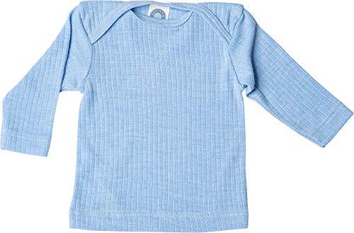 Cosilana, Baby Schlupfhemd Langarm, 45% KBA Baumwolle 35% kbT Wolle, 20% Seide (86/92, Blau meliert)