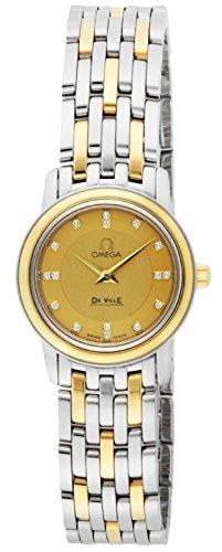 [オメガ] 腕時計 デ・ビル ゴールド文字盤 GP/ステンレスケース 日常生活防水 ダイヤモンド 4370.16 並行輸入品 シルバー