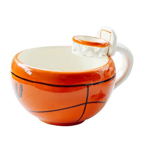 Jiaxingo Basketball-Kaffeetasse Keramik-Kaffeetasse Kaffee-Tee-Tasse Kreative Basketball-Tasse mit Henkel Großes Geschenk für Basketball-Sportfans