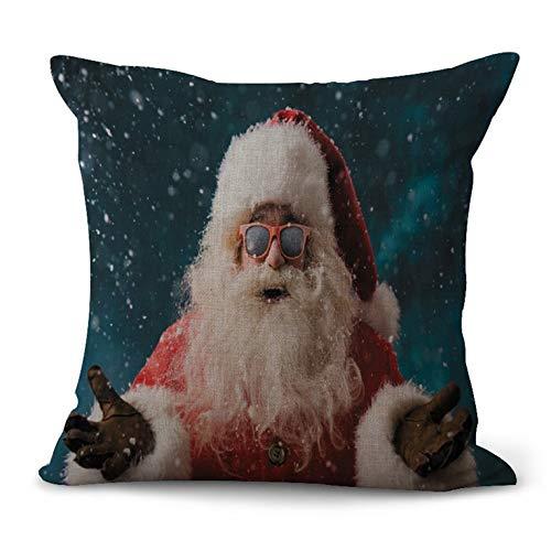 N/V CM1010 Funda de almohada de lino para el hogar decorativa funda de almohada para sofá de coche