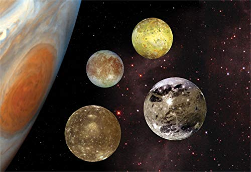 New Horizon Aviation, LLC Jupiter's Galilean Moons Hi Gloss Space Poster...