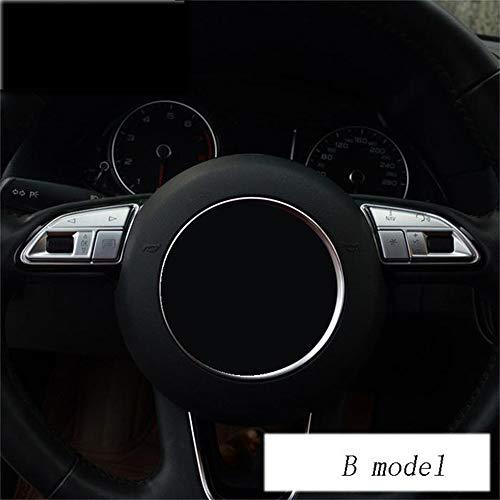 DHFBS Auto styling stuur knoppen decoratie Trim Covers stickers, Voor Audi Q3 Q5 A1 A3 8 V A4 B8 A5 A7 interieur auto-accessoires