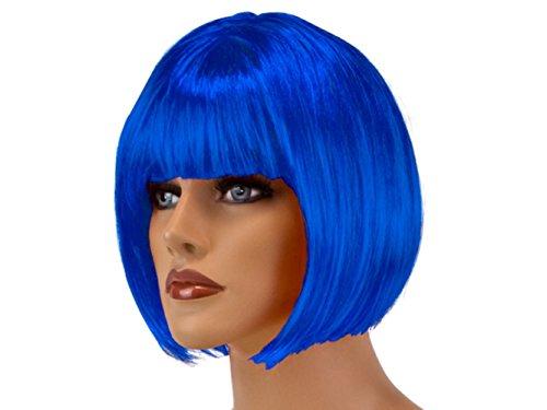 HAAC Carnival Party Wig Short Hair Color Dark Blue