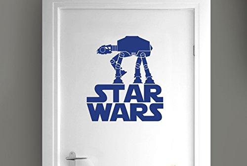 CUT IT OUT Star Wars Walker Tür Raum Sticker Art Aufkleber–Dunkelblau (Höhe 44cm x Breite 40cm)