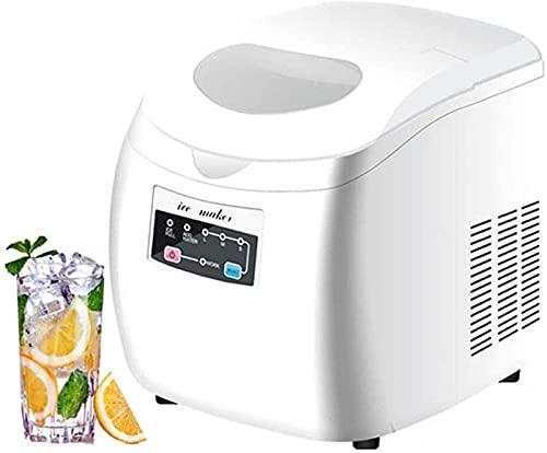 Draagbare ijsmaker IJsmachine aanrechtblad, 9 ijsblokjes klaar in 10 minuten, 12-15 kg in ijs 24 uur en 3 afmetingen (S/M/L), ijsmachine voor thuiskampfeest