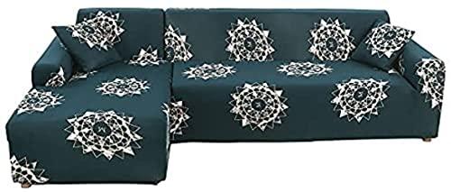 hd-3 La Funda de sofá elástica elástica es Adecuada para sofás en General, Sala de Estar combinada, Funda de sofá de Esquina en Forma de L, A6, 4 plazas