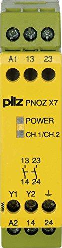 Pilz Not-Aus-Schaltgerät PNOZ X7#774057 240VAC 2n/o PNOZ X Gerät zur Überwachung von sicherheitsgerichteten Stromkreisen 4046548012323