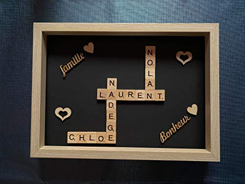 Cuadro personalizado para pareja de Scrabble