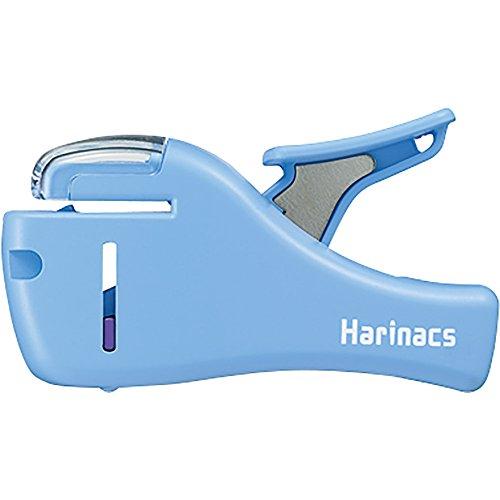 Kokuyo Harinacs Japanese Stapleless Stapler (compact) light blue