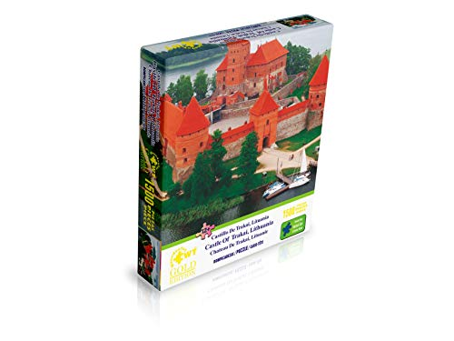 WUUNDENTOY Jigsaw Puzzle Castle of Trakai, Lithuania 1,500 Pieces Gold Edition 12+Years Old (2312)