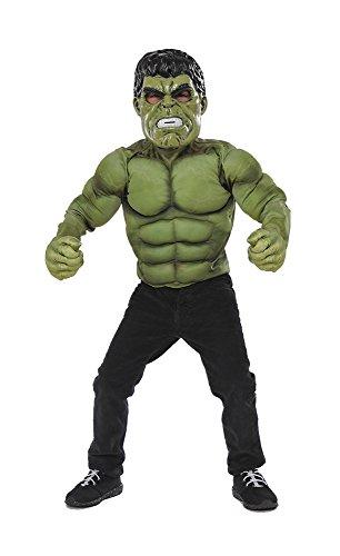 Avengers-kostuum Hulk met borst, mascara en handschoenen, in doos, M Rubie 's Spain (34101)
