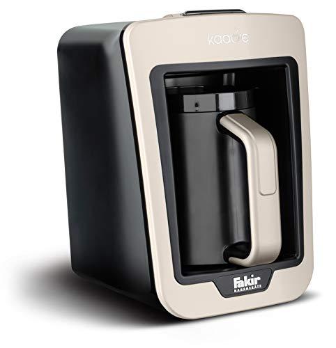 Fakir Kaave - Türkische Mokka-Maschine I Elektrische Kaffeemaschine mit 4 Tassen Fassungsvermögen & traditionellem Holz-Messlöffel I Einfaches One-Touch-Control-System I 735 Watt I Weiß
