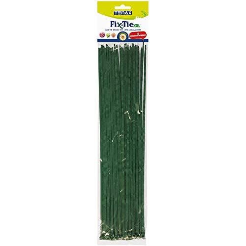 tenax Fix-Tie XXL, Fascette Multiuso in Plastica, Verde, Lunghezza 40 cm, Confezione da 50 Pezzi, XXL-40 cm