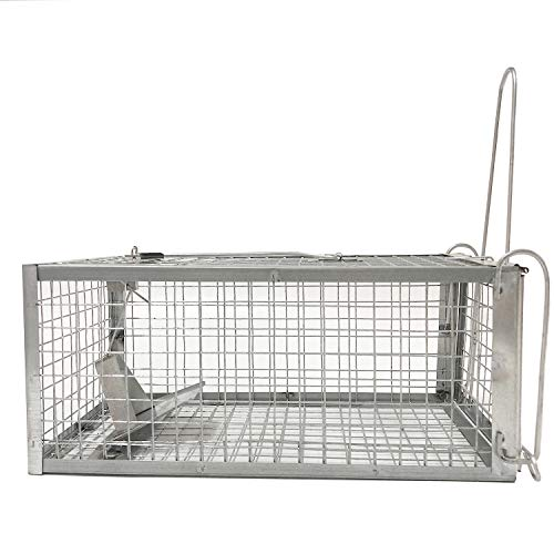Negarly Humane Animal Live Cage Trap for Rat Mouse Squirrels Chipmunk and Other Rodents (Large)